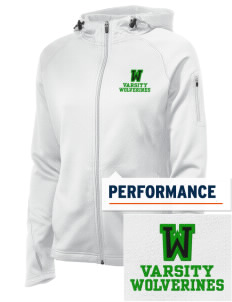 Willow Elementary School Wolverines Embroidered Women's Tech Fleece Full-Zip Hooded Jacket