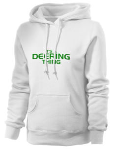 Deering School Northern Lights Russell Women's Pro Cotton Fleece Hooded Sweatshirt