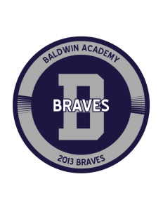 Baldwin Academy Braves Sticker