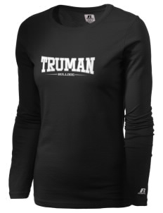 Truman High School Bulldog  Russell Women's Long Sleeve Campus T-Shirt