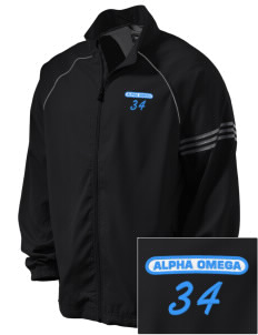 Alpha Omega Academy We don't have one.  We have a logo Embroidered adidas Men's ClimaProof Jacket