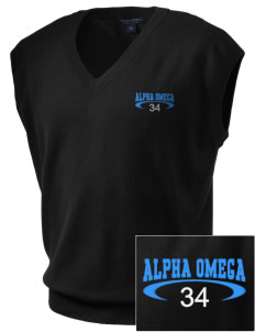 Alpha Omega Academy We don't have one.  We have a logo Embroidered Men's Fine-Gauge V-Neck Sweater Vest