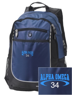 Alpha Omega Academy We don't have one.  We have a logo Embroidered OGIO Carbon Backpack