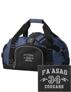 fa'asao high cougars  Embroidered OGIO Big Dome Duffel Bag