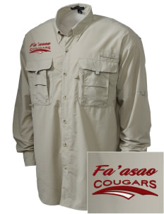 fa'asao high cougars Embroidered Men's Explorer Shirt with Pockets