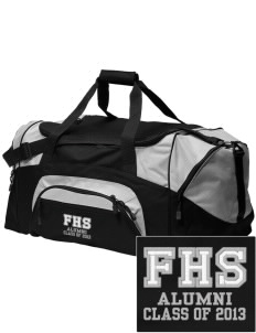 fa'asao high cougars Embroidered Colorblock Duffel Bag