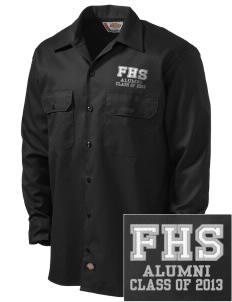 fa'asao high cougars Embroidered Dickies Men's Long-Sleeve Workshirt