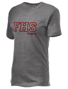 fa'asao high cougars Embroidered Alternative Unisex Eco Heather T-Shirt
