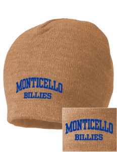 Monticello High School Billies Embroidered Beanie