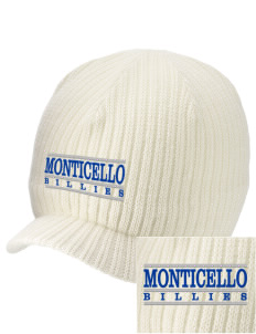 Monticello High School Billies Embroidered Knit Beanie with Visor