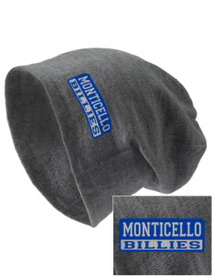 Monticello High School Billies Embroidered Slouch Beanie