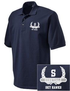 Sunnydale Elementary School Sky Hawks Embroidered Tall Men's Pique Polo