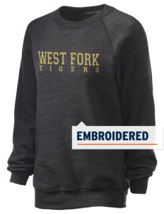West Fork High School Tigers Embroidered Unisex Alternative Eco-Fleece Raglan Sweatshirt
