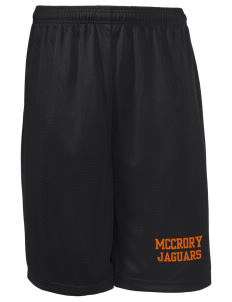 "McCrory High School Jaguars Long Mesh Shorts, 9"" Inseam"