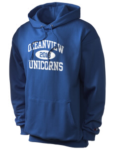 Oceanview Elementary School Unicorns Champion Men's Hooded Sweatshirt