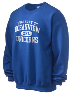 Oceanview Elementary School Unicorns Ultra Blend 50/50 Crewneck Sweatshirt