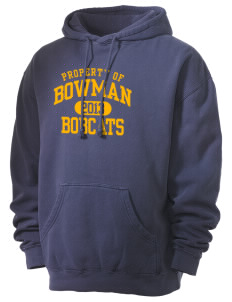 Bowman Elementary School Bobcats Men's 80/20 Pigment Dyed Hooded Sweatshirt