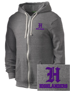Beach Elementary School Highlanders Embroidered Alternative Men's Rocky Zip Hooded Sweatshirt
