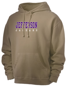 Jefferson Elementary School Jaguars Men's 80/20 Pigment Dyed Hooded Sweatshirt