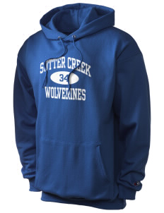 Sutter Creek Elementary School Wolverines Champion Men's Hooded Sweatshirt