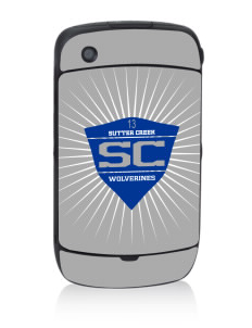 Sutter Creek Elementary School Wolverines Black Berry 8530 Curve Skin