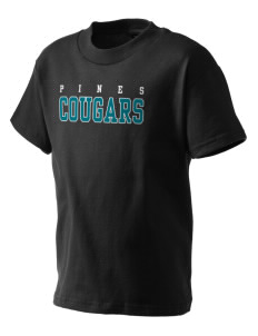 Pines Elementary School Cougars Kid's T-Shirt