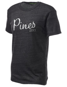 Pines Elementary School Cougars Embroidered Alternative Unisex Eco Heather T-Shirt