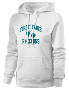 Forest Ranch Elementary School Raccoons Russell Women's Pro Cotton Fleece Hooded Sweatshirt