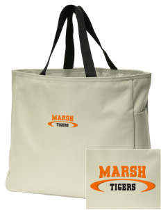 Marsh Elementary School Tigers Embroidered Essential Tote