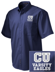 Caruthers Union Elementary School Eagles Embroidered Men's Easy Care Shirt