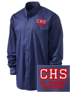 Caruthers High School Raiders Embroidered Men's Easy-Care Shirt