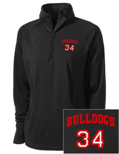 Kratt Elementary School Bulldogs Embroidered Ladies Stretched Half-Zip Pullover