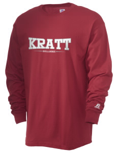 Kratt Elementary School Bulldogs  Russell Men's Long Sleeve T-Shirt