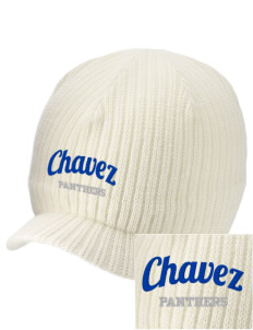 Chavez Elementary School Panthers Embroidered Knit Beanie with Visor