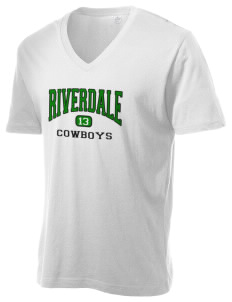 Riverdale High School Cowboys Alternative Men's 3.7 oz Basic V-Neck T-Shirt