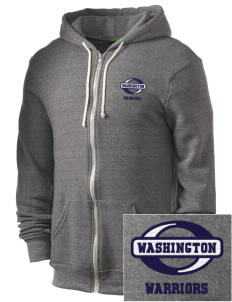 Washington Middle School Warriors Embroidered Alternative Men's Rocky Zip Hooded Sweatshirt