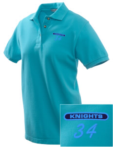 Sandy Bluff Alternate Education Center Knights Embroidered Women's Pique Polo