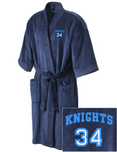 Sandy Bluff Alternate Education Center Knights Embroidered Terry Velour Robe
