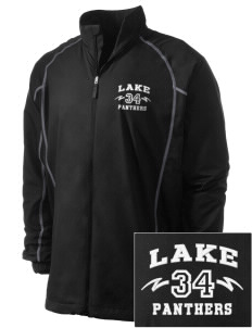 Lake Elementary School Panthers Embroidered Men's Nike Golf Full Zip Wind Jacket