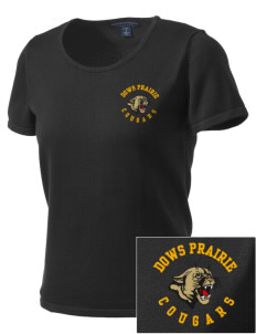 Dows Prairie Elementary School Cougars Embroidered Women's Fine-Gauge Scoop Neck Sweater