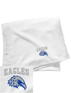 Aurora Continuation High School Eagles Embroidered Beach Towel