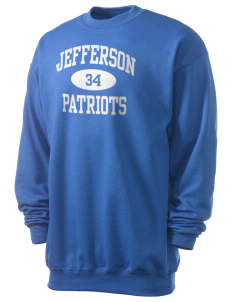 Jefferson Elementary School Patriots Men's 7.8 oz Lightweight Crewneck Sweatshirt