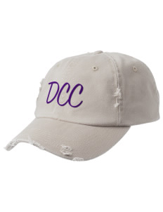 Deep Creek Central Elementary School Hornets Embroidered Distressed Cap