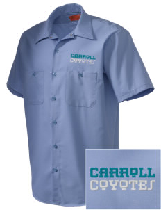 Carroll Elementary School Coyotes Embroidered Men's Cornerstone Industrial Short Sleeve Work Shirt