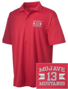 Mojave High School Mustangs Embroidered Men's Micro Pique Polo