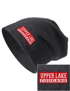 Upper Lake High School Cougars Embroidered Slouch Beanie