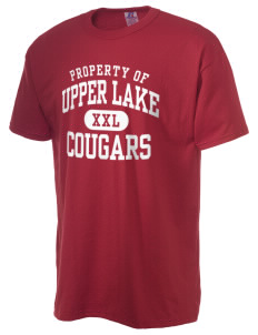 Upper Lake High School Cougars  Russell Men's NuBlend T-Shirt