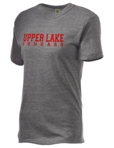 Upper Lake High School Cougars Embroidered Alternative Unisex Eco Heather T-Shirt