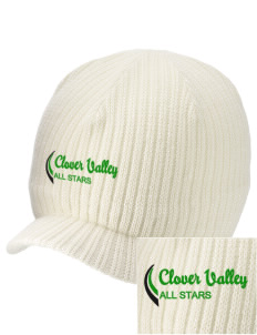 Clover Valley High School All Stars Embroidered Knit Beanie with Visor