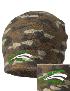 Clover Valley High School All Stars Embroidered Camo Beanie